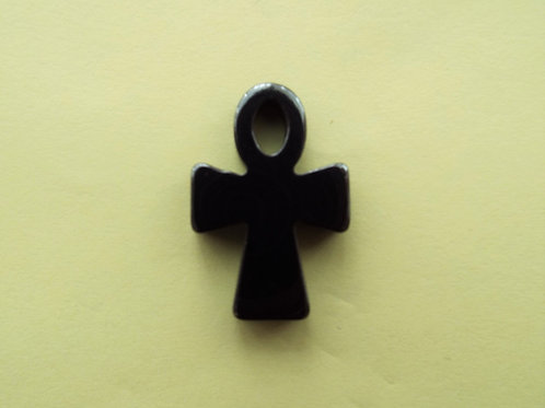 """Ankh Hematite Cross"""