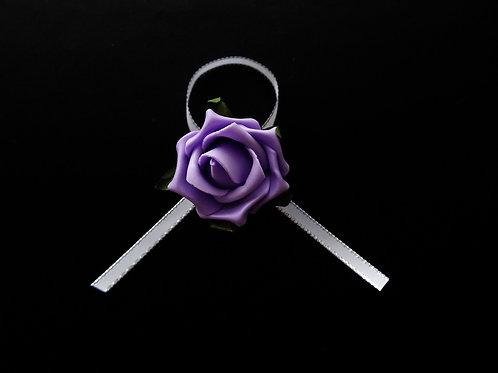 """...Elegant lilac rose!""  Brooch"