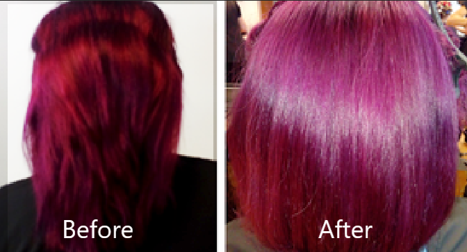 glossy colouring and cutting