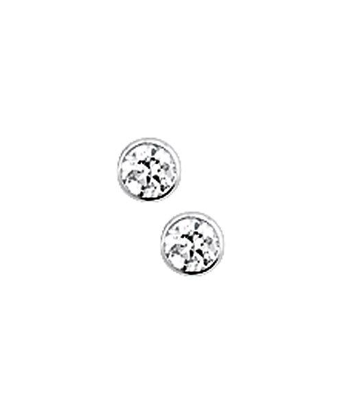 205734 Zilveren oorknoppen zirconia gladom 2.5mm