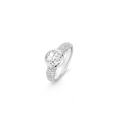 12079ZI Ti Sento zilveren ring met zirconia maat 56 LAATSTE MAAT