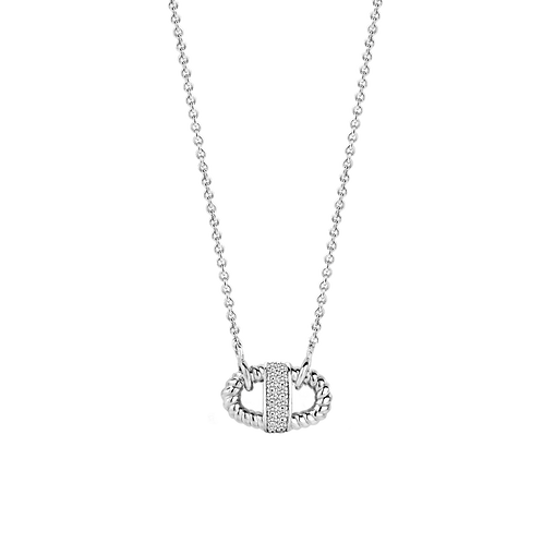 3910ZI Ti Sento zilveren collier met zirconia