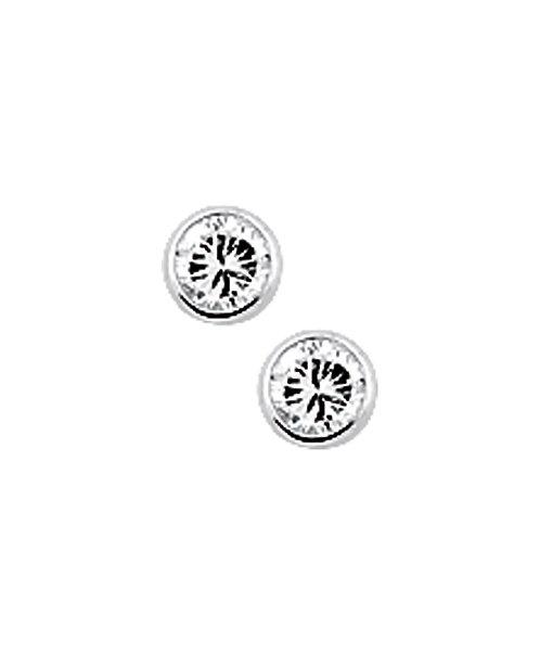205731 Zilveren oorknoppen zirconia gladom 3mm