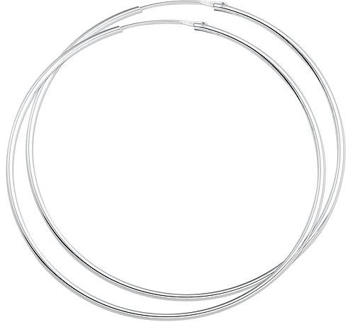 400373 Zilveren oorringen 62x1.5mm
