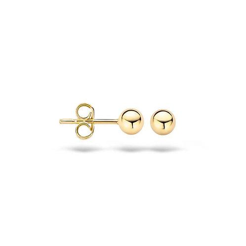 7121YGO Blush oorstekers geelgoud bolletjes 4mm