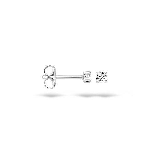 7138WZI Blush oorstekers witgoud zirconia 2.25mm