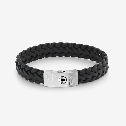 RR-L0076-S Rebel & Rose Braided Raw Matt Black