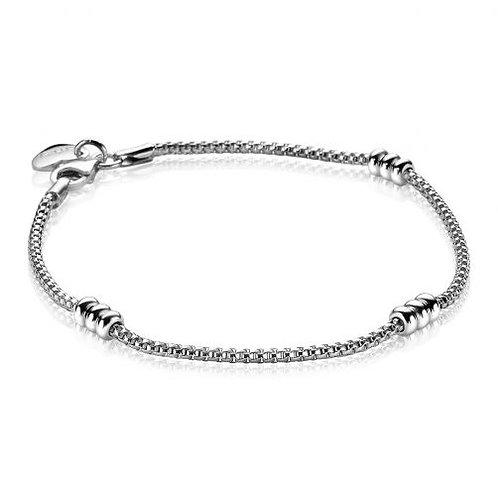 ZIA1421 ZINZI zilveren armband fantasie met rondjes 18cm