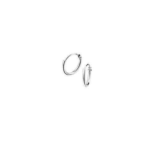 35610111 Zilveren oorringen 9mmx1.3mm gerhodineerd