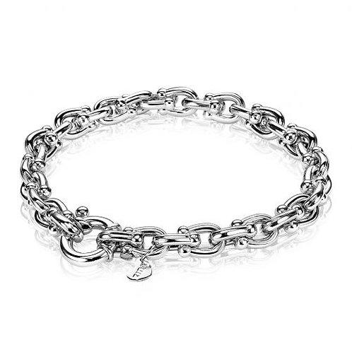 ZIA1640 ZINZI zilveren armband fantasie veerring 19,5cm