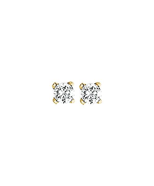 204424 Geelgouden oorknoppen zirconia chaton 2.5mm