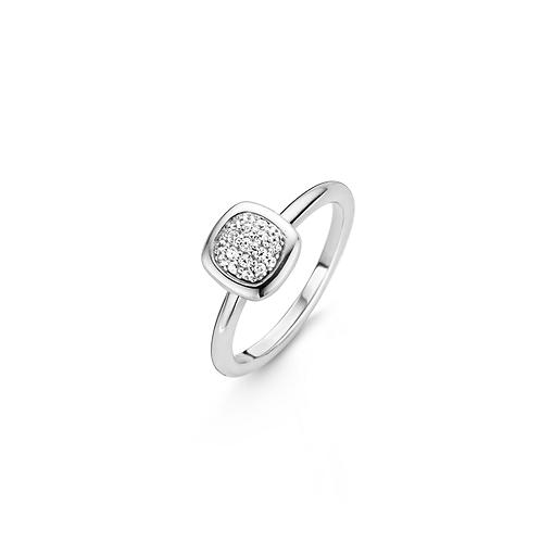 12043ZI Ti Sento zilveren ring met zirconia maat 54 LAATSTE MAAT