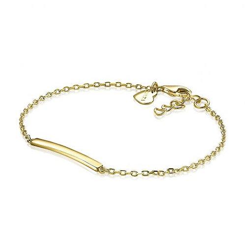 ZIA1308G ZINZI zilveren armband geelgoud verguld recht plaatje