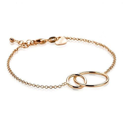 ZIA1278R ZINZI zilveren armband roségoud verguld twee rondjes