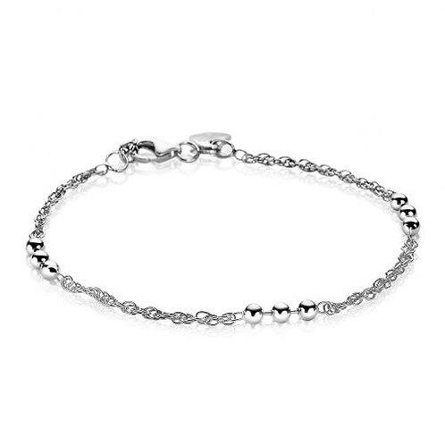 ZIA1422 ZINZI zilveren armband fantasie/bolletjes 18/21cm