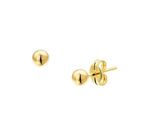 25011302 Geelgouden bolletjes oorknop 3.5mm