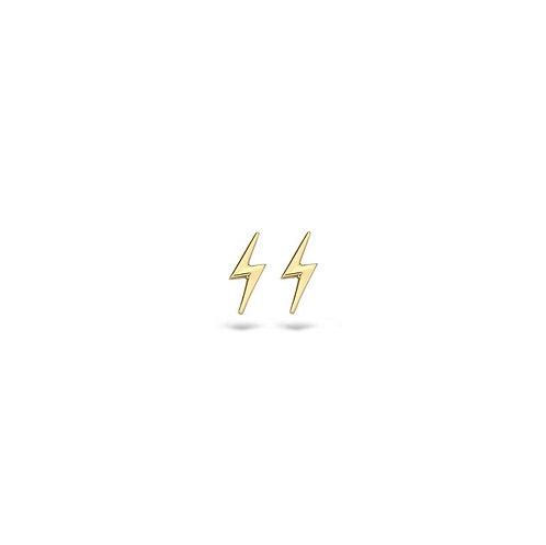7249YGO Blush oorstekers geelgoud bliksem