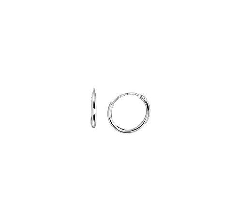 35610113 Zilveren oorringen gerhodineerd 13X1.4mm