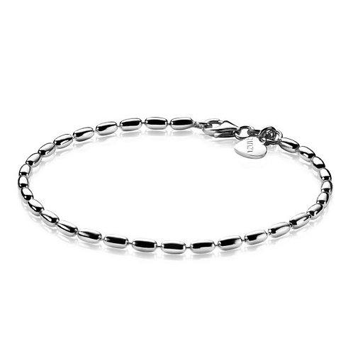 ZIA1125 ZINZI zilveren armband ovale dichte schakels