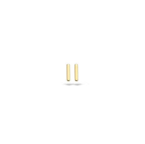 7251YGO Blush oorstekers geelgoud staafje