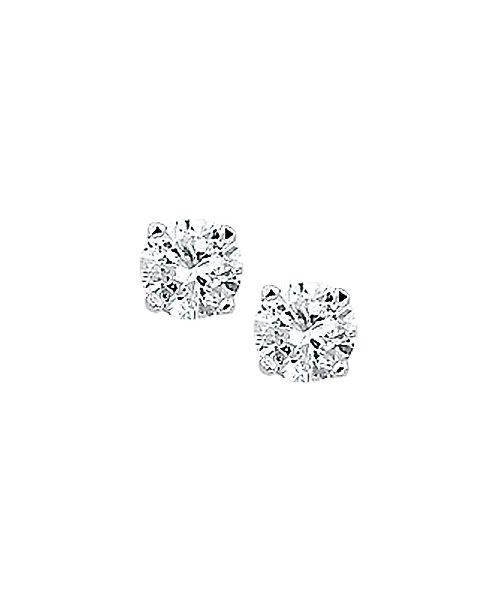 209400 Zilveren oorknoppen zirconia 4-poots chaton 5mm