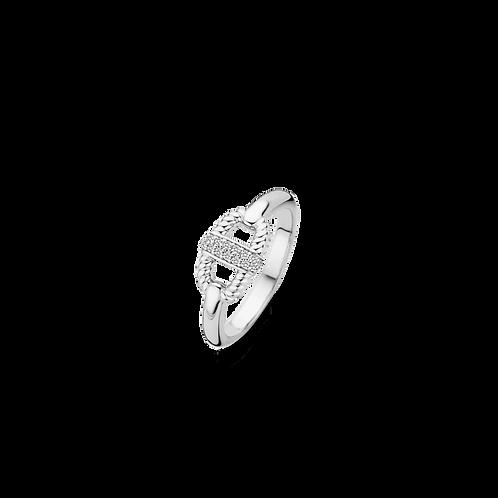 12140ZI Ti Sento zilveren ring maat 54 LAATSTE MAAT
