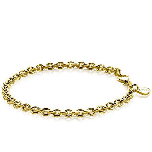 ZIA1153G ZINZI zilveren armband geelgoud verguld anker