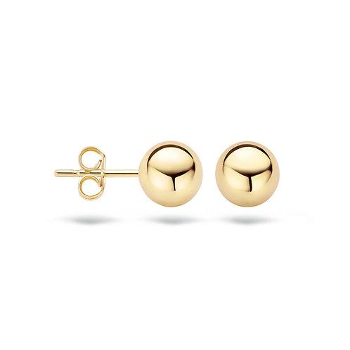 7160YGO Blush oorstekers geelgoud bolletje 7mm