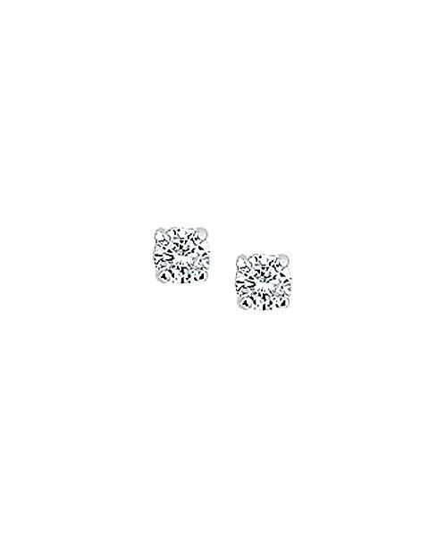 209398 Zilveren oorknoppen zirconia 4-poots chaton 3mm