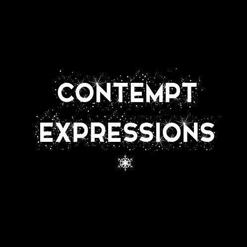 CONTEMPT EXPRESSIONS