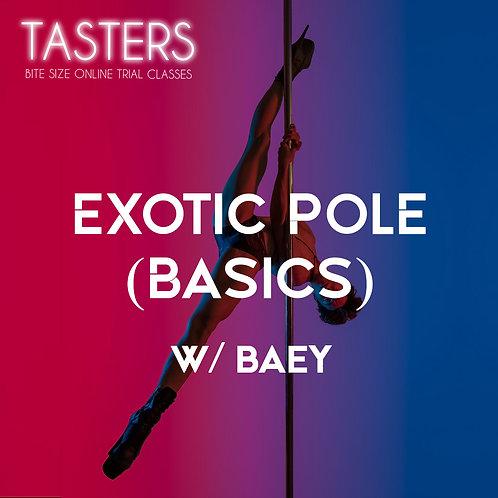 (TASTERS - 21st MAY, 7PM) BEG / EXOTIC POLE BASICS W/BAEY