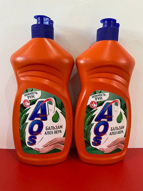 АОС. средство для мытья посуды. Бальзам Алоэ Вера. 450 мл.