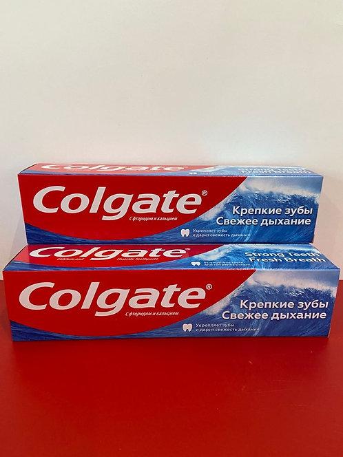 Зубная паста Колгейт -- Свежее дыхание Крепкие зубы. 100 мл.