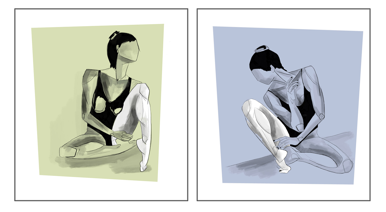 Bailarinas sentadas