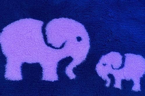 Vet Bedding Non Slip Navy Lilac Elephant