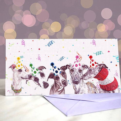 Whippet 'Whippet Real Good'?  Greetings Card