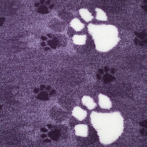Vet Bedding Non Slip Purple Large White Paw