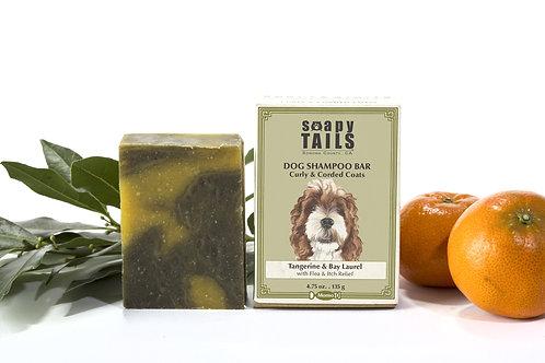Soapy Tails Dog Shampoo Bar - Tangerine & Bay Laurel - Curly & Corded Coats 4.75