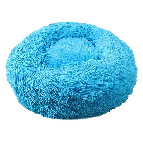 Plush Cosy Donut Bed Teal Blue 70cm