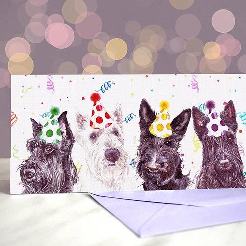 Scottish Terrier 'Scottie Scoundrels'  Greetings Card