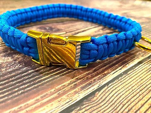 Handmade Paracord Collar Blue 46cm Size