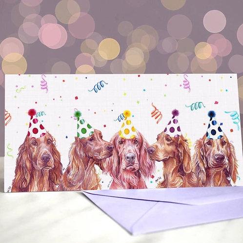 Setter 'Reddy Set Go'  Greetings Card