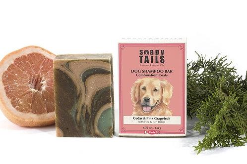 Soapy Tails Dog Shampoo Bar - Cedar & Pink Grapefruit - Combination Coats 4.75oz