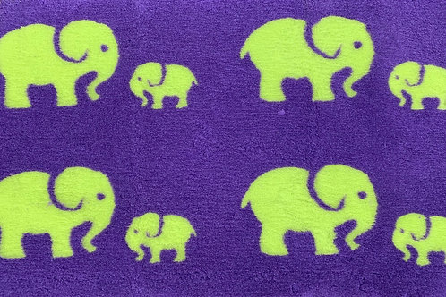 Vet Bedding Non Slip Purple Lime Elephant