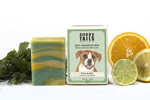 Soapy Tails Dog Shampoo Bar - Citrus & Mint - Short & Smooth Coats 4.75 oz