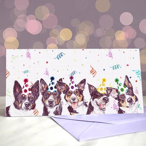 Collie 'Tri, Tri and Tri?  Greetings Card
