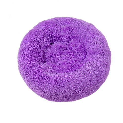 Plush Cosy Donut Bed Lilac 100cm
