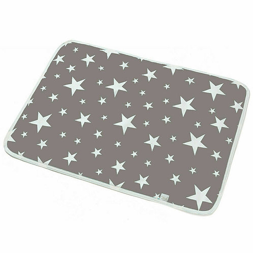 Washable Puppy Pads Dog Pee Pads, Reusable Puppy Training Grey Stars 60 x 75cm