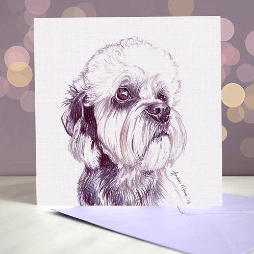Dandie Dinmont Terrier 'Most Pupular'  Greetings Card
