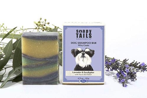 Soapy Tails Dog Shampoo Bar - Lavender & Eucalyptus - Wiry Coats 4.75 oz